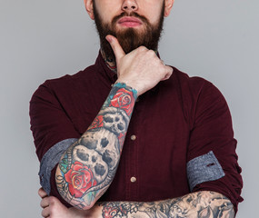 Male with tattoos on his body
