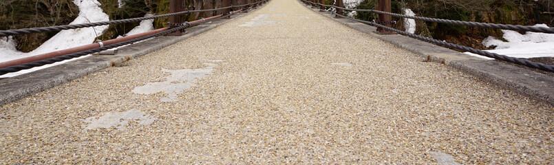 Gravel and sand texture on the walking bridge