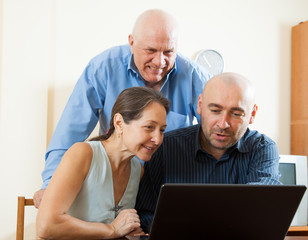 couple with  man in internet