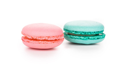 Stack of colorful macaroon cakes