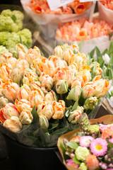 outdoor flower market in Amsterdam