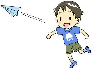 紙飛行機 男の子