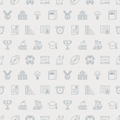 School line icon pattern set