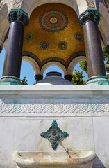 The marble arches of German Fountain, Istanbul