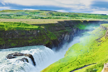 Grandiose Gullfoss in Iceland