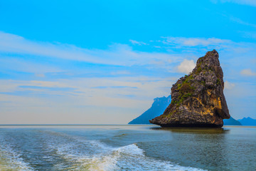 Fantastic island-rock in the Andaman Sea