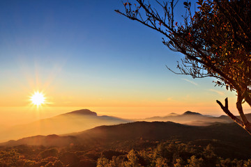 Sunrise at Doi Inthanon, Chiang Mai Thailand