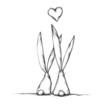 Zwei verliebte Hasen