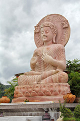 Statue of Buddha at Tha Ton temple,  Mae Ai