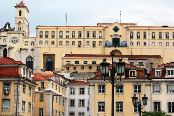 Portugal. Lovely view of the historic architecture of Lisbon.