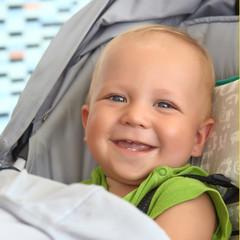 Baby boy in a stroller