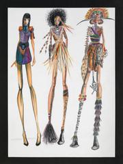 tribal inspired fashion design