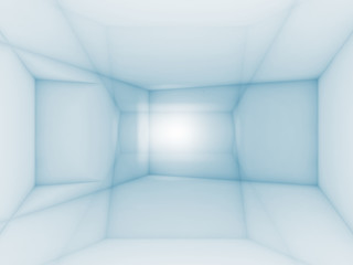 Abstract blue and white geometric digital background