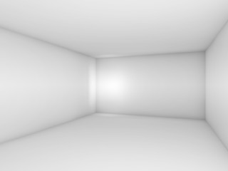 Abstract white 3d empty room interior with spot light