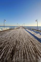 Zimowe molo, Morze Bałtyckie , Polska
