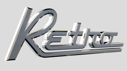 Retro Chrome Badge