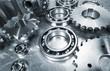 aerospace parts, cogwheels and ball-bearings in titanium