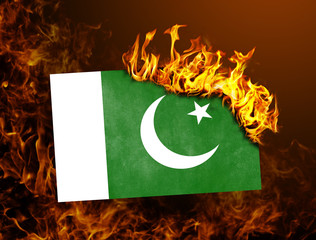 Flag burning - Pakistan