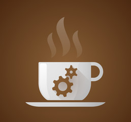 Coffee cup with gears