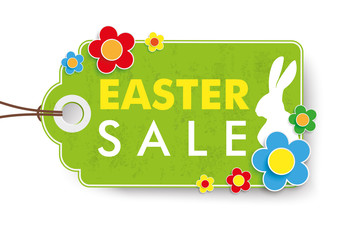 Green Easter Sale Price Sticker