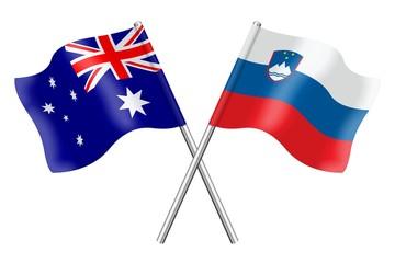 Flags: Australia and Slovenia