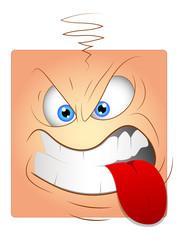 Teasing Tongue Cartoon Box Smiley