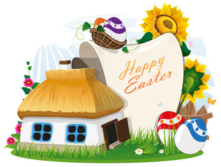 Easter rural background