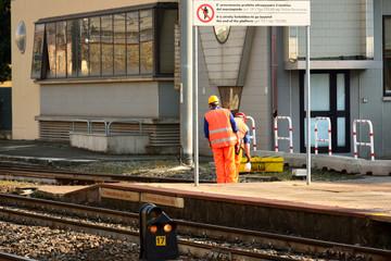 Lavoro in stazione ferroviaria