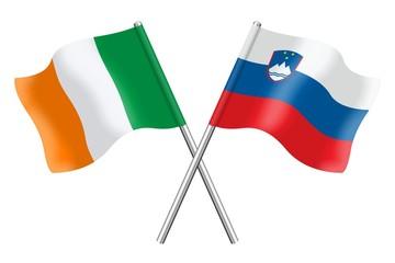 Flags: Ireland and Slovenia