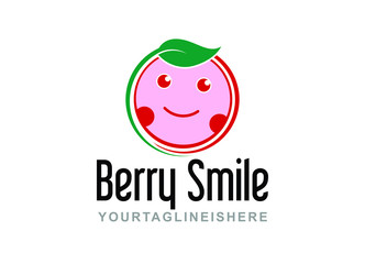 Berry Smile - Fruit Logo