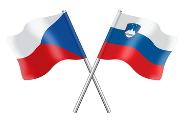 Flags: Czech Republic and Slovenia