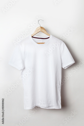 White t-shirt template ready for your graphic design. - 80440462