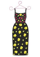 Fashion dress for a girl vector illustration