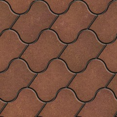 Brown Figured Pavement with Decorative Wave.