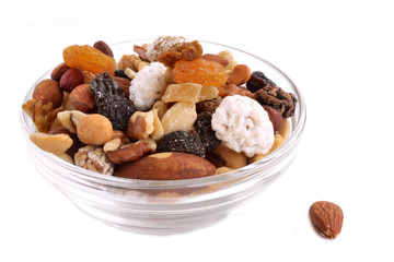 Different types of nuts in one mixture
