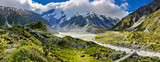 View over Hooker Valley, Mount Cook National Park - New Zealand
