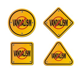 stop vandalism - roadsigns