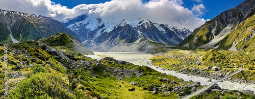 View over Hooker Valley, Mount Cook National Park - New Zealand - 80444051