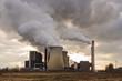 Leinwanddruck Bild - kraftwerk Umweltverschmutzung