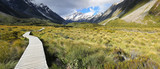 Fototapety Hooker Valley Track at Mount Cook National Park - New Zealand