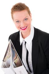businessfrau mit akten