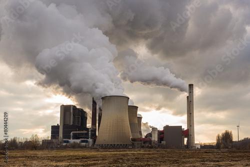 Leinwanddruck Bild kraftwerk Umweltverschmutzung