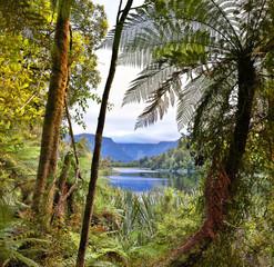 Lake Matheson, New Zealand - HDR image