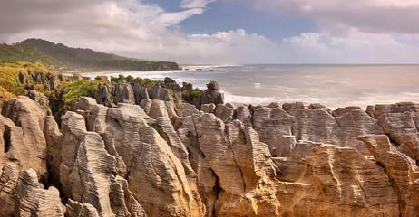 Pancake Rocks, New Zealand - long time exposure