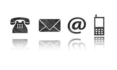 kontakt Symbole