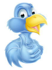 Cartoon Bluebird Mascot