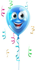 Blue cartoon balloon character