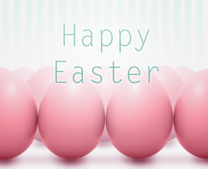 Easter card with pink eggs