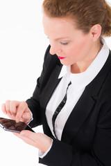 businessfrau telefoniert mit dem mobiltelefon