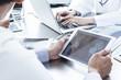 Leinwandbild Motiv Doctors have the electronic tablet